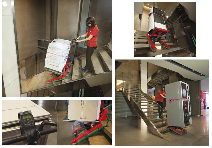 施工例 ドミノ階段運搬台車